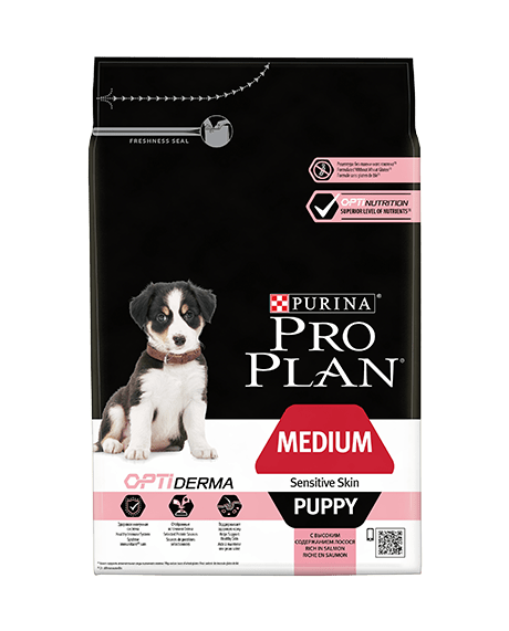 Medium Puppy Sensitive Skin Optiderma - Reich an Lachs 3kg