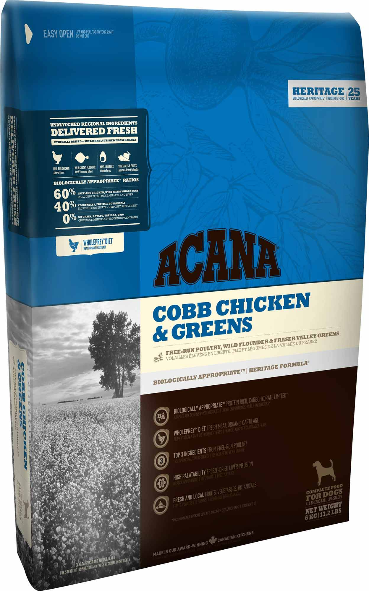 Acana Chicken & Greens 6 Kg