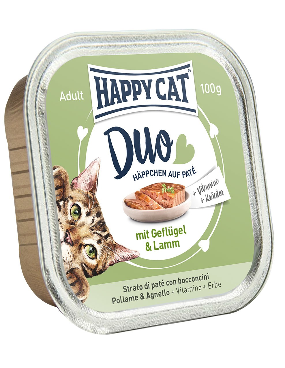 Duo Menu - Geflügel & Lamm (12x100g) - Happycat